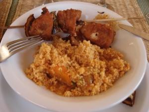... et le fameux couscous brochette poulet-poivron-citron