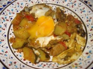 légumes au épices de Tataouine ... et à l'oeuf