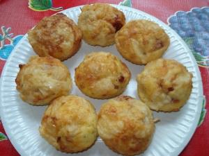 Muffins salé tomates séchées et parmesan