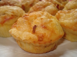 muffins salé au parmesan et aux tomates séchées