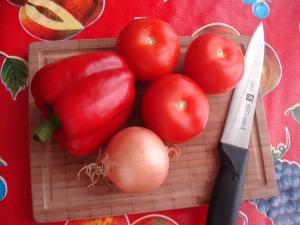 Tortilla gratinée: les légumes