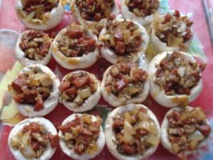 Champignons farcis au Chorizo Tapas