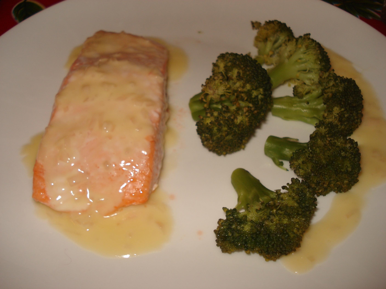 Pav de saumon au beurre blanc over cook e - Saumon papillote au four ...