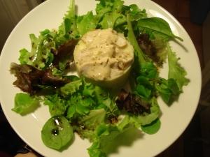 poulet purée salade