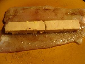 Roulé de volaille au foie gras