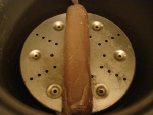 Roulé de volaille au foie gras cuisson à l'autocuiseur de riz