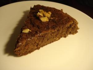 Gâteau au chocolat et aux noix