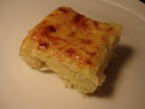 part de Gateau de pommes de terre aux oignons recette Guy Demarle