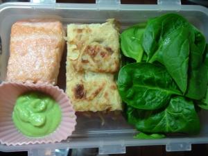 Lunch box Pavé de Saumon et émulsion de petit pois au wasabi