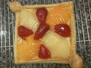 Tarte aux fruits carrée
