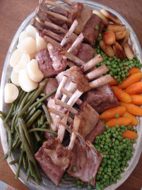Carré d'agneau aux légumes primeurs