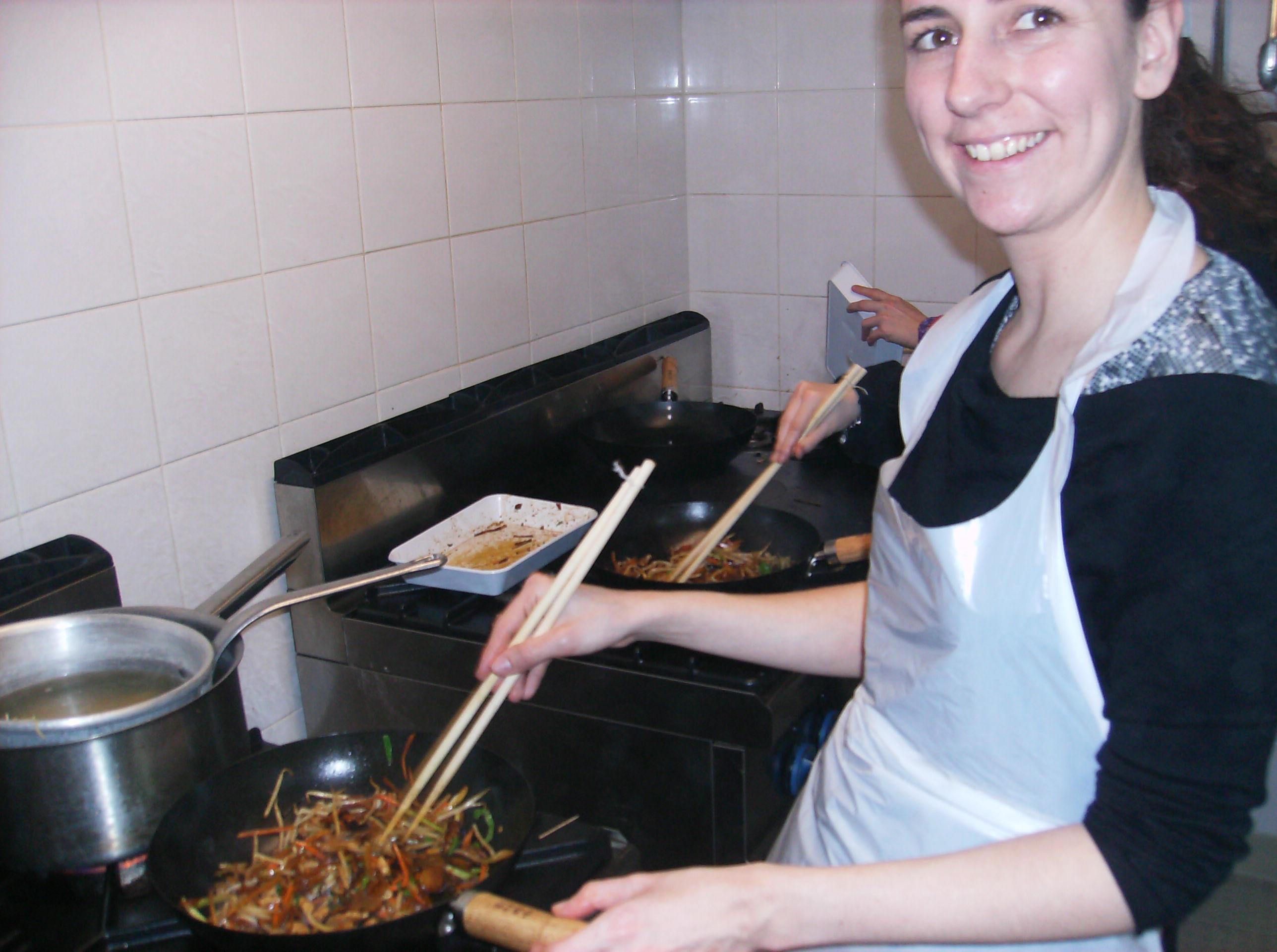 Perrine et le wok